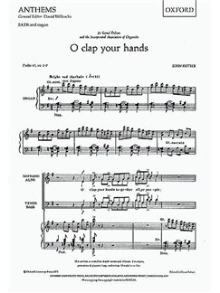 John Rutter: O Clap Your Hands Books | SATB, Organ Accompaniment