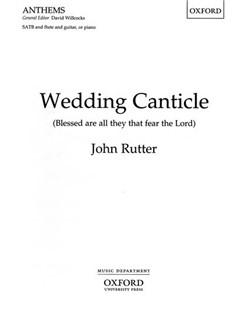 John Rutter: Wedding Canticle (Vocal Score) Books | SATB, Piano Accompaniment