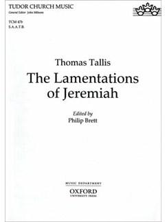 Thomas Tallis: The Lamentations Of Jeremiah (SAATB) Books | SAATB