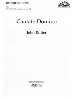 John Rutter: Cantate Domino Books | SATB