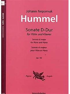 Johann Nepomuk Hummel: Sonata In D Op.50 Books | Flute, Piano Accompaniment