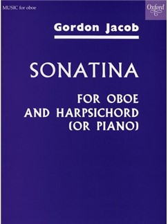 Gordon Jacob: Sonatina For Oboe And Piano Books | Oboe, Piano Accompaniment