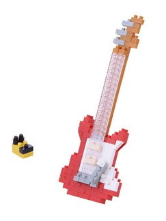 Nanoblock: Electric Guitar - Red  | Electric Guitar