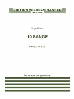 Hugo Alfen: 10 Sange Hæfte 2 (Sang 8-10) - Voice And Piano Books | Voice, Piano Accompaniment