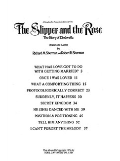 Richard/Robert Sherman: Selections From 'The Slipper And The Rose' Books | Piano, Vocal & Guitar