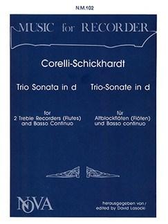Arachangelo Corelli: Trio Sonata in D minor Books | Treble Recorder (Duet), Continuo