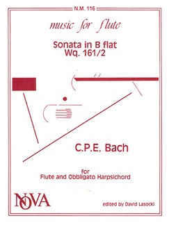 C.P.E. Bach: Sonata In B Flat Books | Flute, Harpsichord