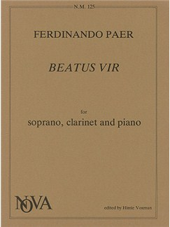 F Paer: Beatus Vir (Clarinet, Voice & Piano) Books | Clarinet, Piano Accompaniment