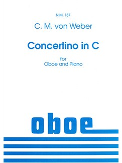 Carl Maria von Weber: Concertino In C (Oboe/Piano) Books | Oboe, Piano Accompaniment