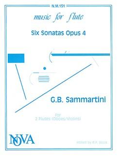 Sammartini: Six Sonatas for 2 Flutes Books | Flute (Duet), Flute (Duet), Soprano (Descant) Recorder (Duet), Soprano (Descant) Recorder (Duet)