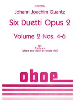Johann Joachim Quantz: Six Duetti Nos. 4-6 Books | Oboe