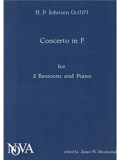 H.P. Johnsen: Double Concerto In F (2 Bassoons/Piano) Books | Bassoon (Duet), Piano Accompaniment