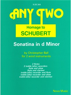 Christopher Ball: Homage To Schubert - Sonatina In D Minor Books | Wind Instruments (Duet)