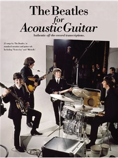 The Beatles For Acoustic Guitar: Guitar Recorded Versions Books | Guitar Tab, with chord symbols
