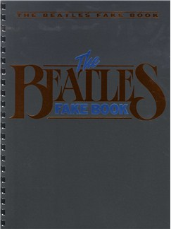 The Beatles Fake Book Books | Melody line, Lyrics & Chord, with guitar chord boxes