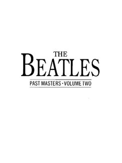 The Beatles Past Masters: Volume 2 Books | Piano and Voice, with Guitar chord boxes