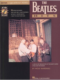 The Beatles Hits Guitar Signature Licks Books and CDs | Guitar Tab, with chord symbols