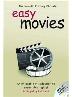 The Novello Primary Chorals: Easy Movies CD et Livre | Voix Unison, Choeur En 2-Parties, Accompagnement Piano (Symboles d'Accords)