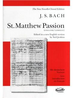 J.S. Bach: St. Matthew Passion (Vocal Score) Livre | SATB, Accompagnement Piano