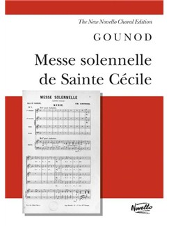 Charles Gounod: Messe Solennelle De Sainte Cecile (Vocal Score) Books | Soprano, Tenor and Bass Soloists, SATB Choir, Organ Accompaniment