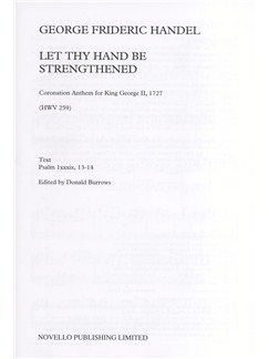 G.F. Handel: Let Thy Hand Be Strengthened Books | SAATB, Organ Accompaniment