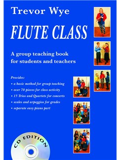 Trevor Wye: Flute Class (Book and 2 CDs) Books and CDs | Flute, Piano Accompaniment
