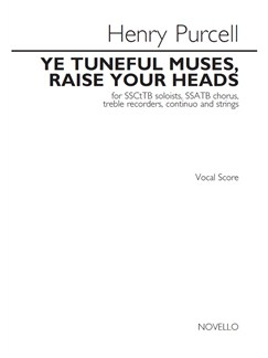 Henry Purcell: Ye Tuneful Muses, Raise Your Heads (Vocal Score) Books | Soprano, Soprano, Countertenor, Tenor, Bass Voice, SSATB, Choral