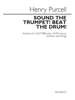 Henry Purcell: Sound The Trumpet! Beat The Drum! (Vocal Score) Books | Countertenor, Countertenor, TTBB, SATB, Piano Accompaniment