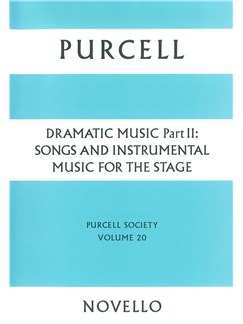 Purcell Society Volume 20 - Dramatic Music Part 2 (Paperback Edition) Books | Voice(s), String Instruments, Continuo