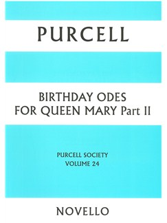 Purcell Society Volume 24 - Birthday Odes For Queen Mary Part II (Paperback) Books | Voice, SATB Chorus, String Instruments, Continuo