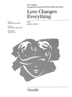 Love Changes Everything Show Singles Books | SATB