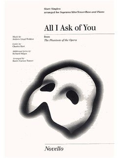 All I Ask Of You Show Singles Books | SATB