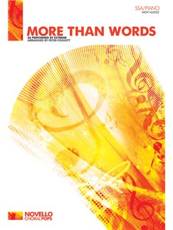 Extreme: More Than Words (SSA/Piano) Livre | SSA, Accompagnement Piano