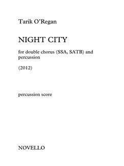 Tarik O'Regan: Night City (Percussion Parts) Books | Percussion