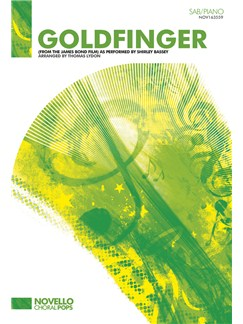Shirley Bassey: Goldfinger (SAB/Piano) Books | SAB, Piano Accompaniment