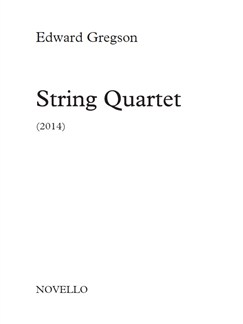 Edward Gregson: String Quartet (Score/Parts) Books | String Quartet