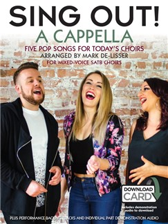 Sing Out! A Cappella (Book/Audio Download) Audio Digitale et Livre | SATB, Chorale