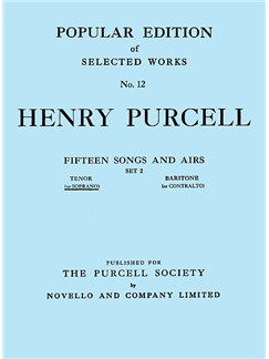Henry Purcell: Fifteen Songs And Airs - Set 2 (Soprano Or Tenor) Books | High Voice, Piano Accompaniment
