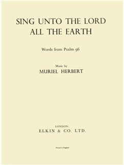 Herbert, M Sing Unto The Lord All The Earth Voice And Piano Buch | Gesang, Klavierbegleitung