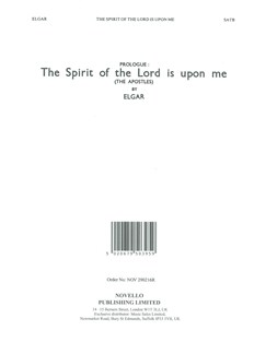 Edward Elgar: The Spirit Of The Lord Is Upon Me Books | SATB, Piano Accompaniment