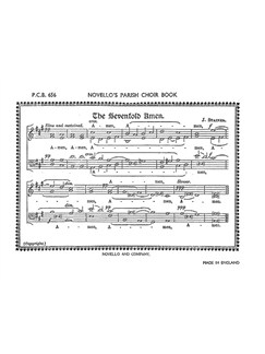 John Stainer: Sevenfold And Dresden Amen Libro | SATB