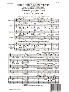 Kenneth Leighton: Drop, Drop, Slow Tears Books | Soprano, Alto, Tenor, Bass