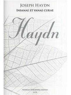 Joseph Haydn: Insanae Et Vanae Curae (New Engraving) Books | SATB, Organ Accompaniment