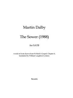 Martin Dalby: The Sower (1988) Books | SATB
