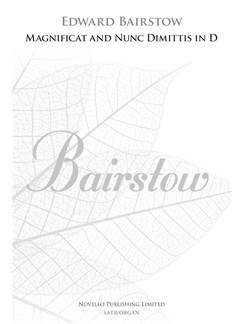 Edward Bairstow: Magnificat And Nunc Dimittis In D (New Engraving) Books | SATB, Organ Accompaniment
