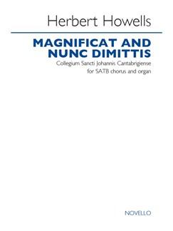 Herbert Howells: Magnificat & Nunc Dimittis - Collegium Sancti Johannis Cantabrigiense Books | SATB, Organ Accompaniment