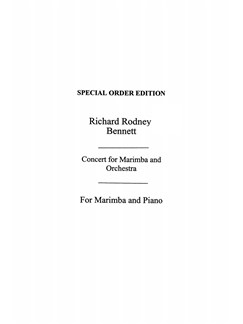 R. R. Bennett: Concerto For Marimba & Chamber Orchestra (Marimba And Piano Reduction) Books | Marimba, Piano