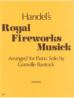 G.F. Handel: Royal Fireworks Music Books | Piano
