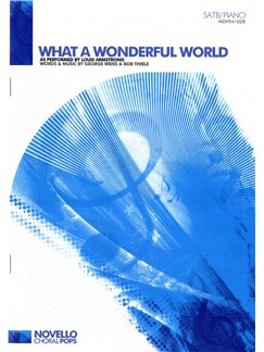 Louis Armstrong: What A Wonderful World (SATB/Piano) Books   SATB, Piano Accompaniment