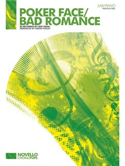 Lady Gaga: Poker Face / Bad Romance (SAB/Piano) Livre | SAB, Accompagnement Piano